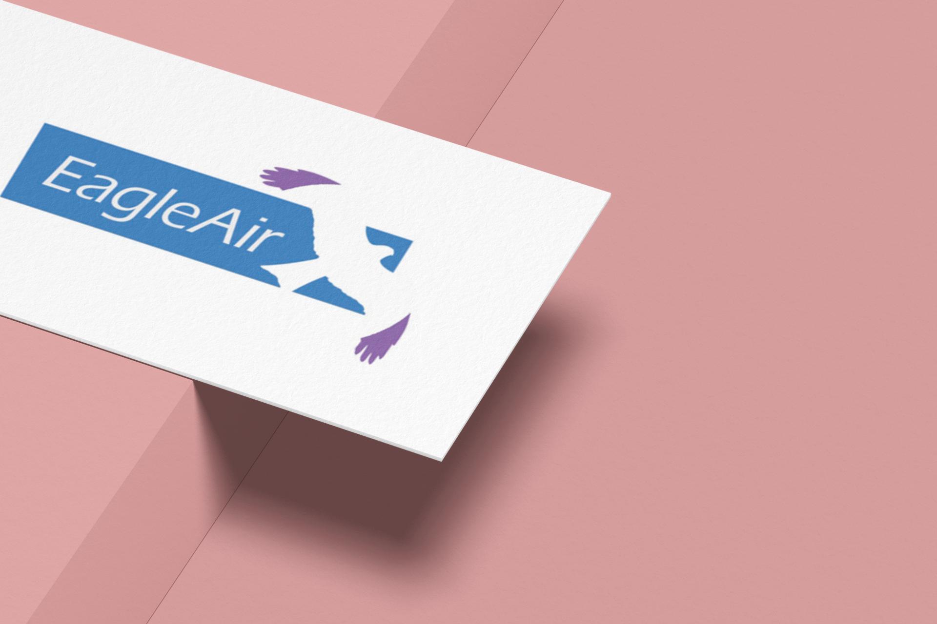 eagleair logo mockup on card