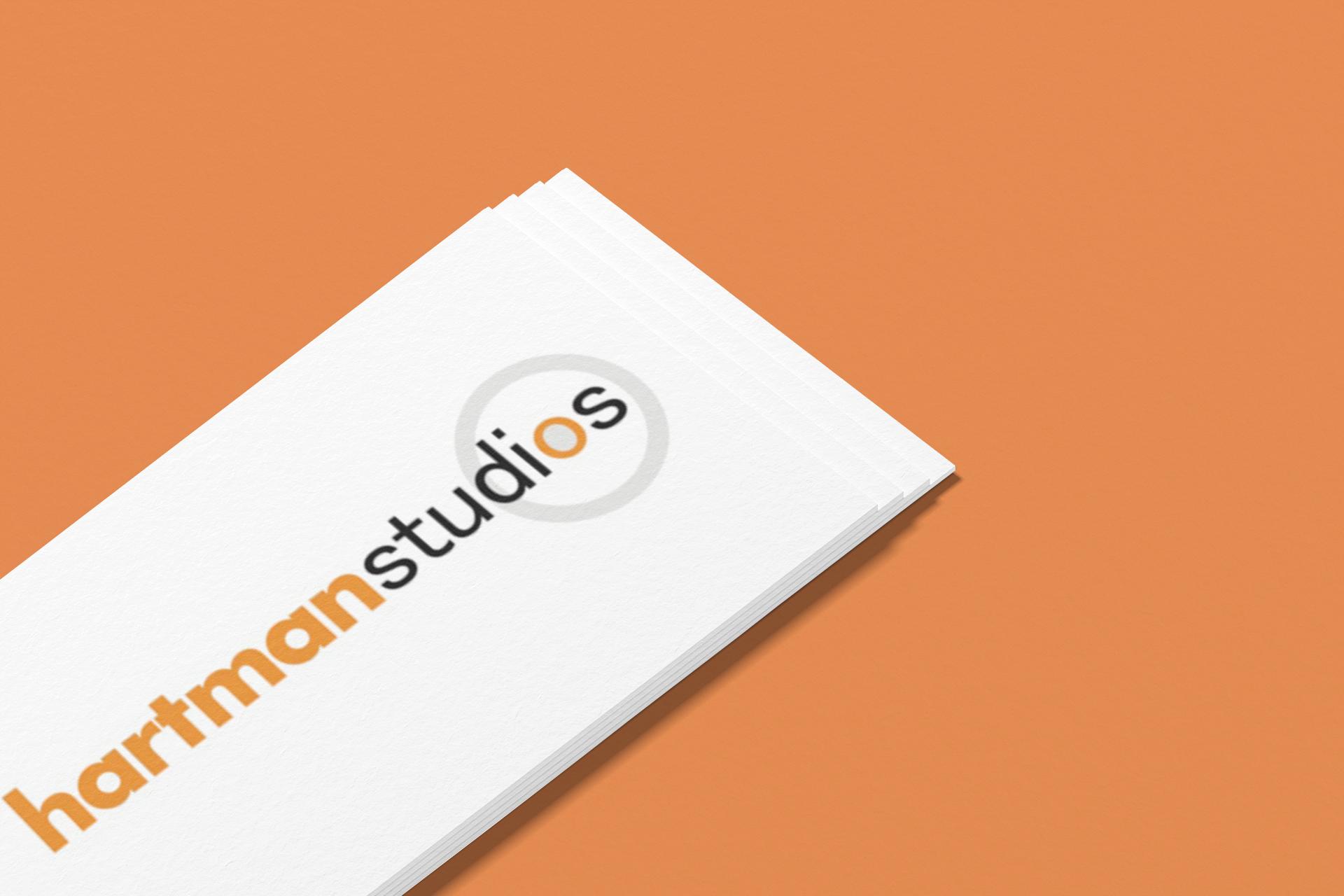 hartman studios logo mockup