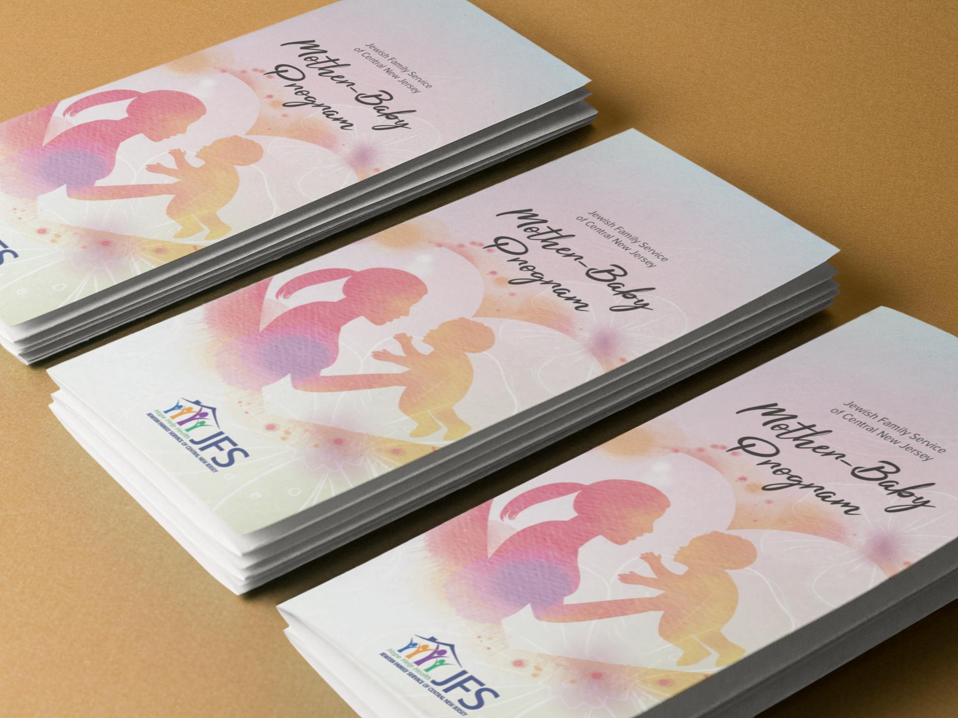 JFS Mother baby brochure on brown